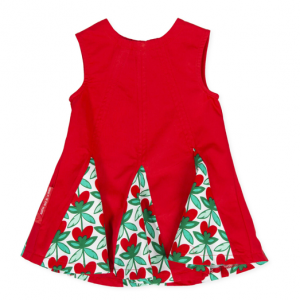 Agatha red and green dress front