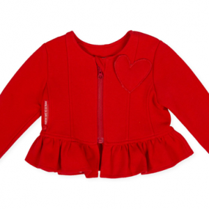 Agatha red cardigan front