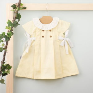 Babidu lemon Ruffle Collar Dress