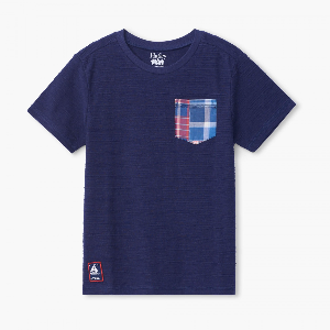 Hatley navy tshirt with front pocket