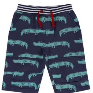 Lilly & Sid Printed Board Shorts, Crazy Croc