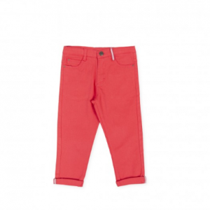 Red soft jean trouser
