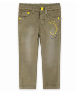Tuc tuc green tropical jungle denim jeans