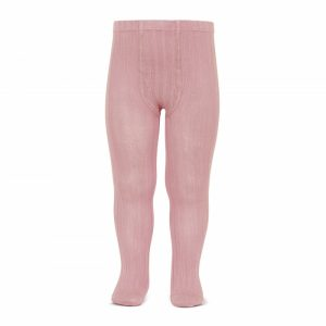 Basic rib tights PALE PINK