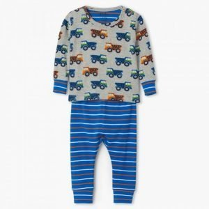 Dump Trucks Organic Cotton Baby Pajama Set