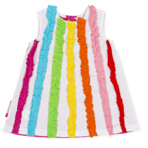 Agatha Rainbow ruffle dress