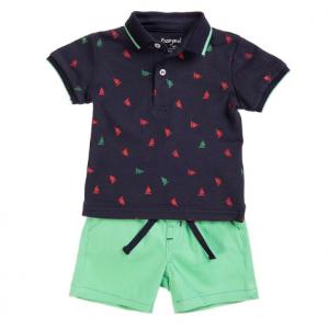 Babybol 2pce shorts and polo shirt set