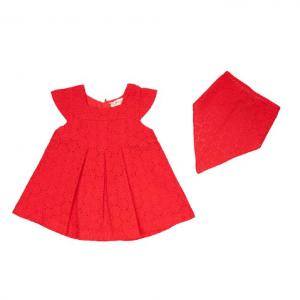 Babybol red dress and matching bandana. Summer style.