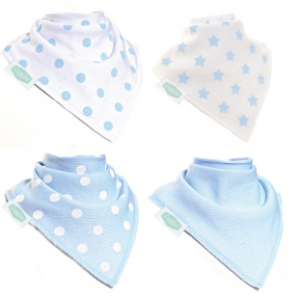 Blue & White Ziggle Bibs