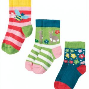 Frugi Deer Multipack Socks