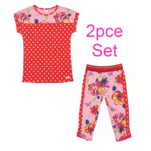 Happy calegi Tess spotty leggings and tshirt set