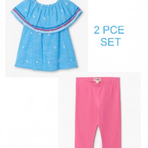Hatley Flamingo Top and Legging Set