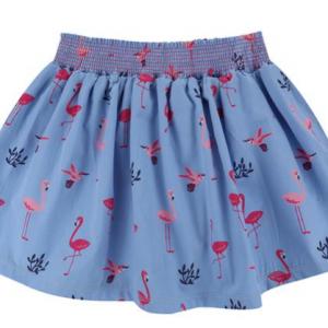 Lilly & Sid Flamingo print skirt