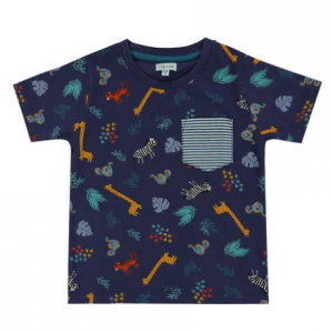 Lilly and Sid Safari tshirt with striped pocket