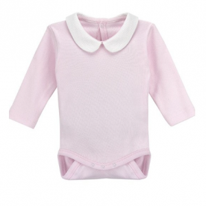 Rapife pink bodysuit with white collar