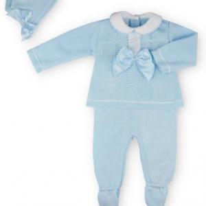 Sardon 3pce baby boy fine knit set. presented in gift box.