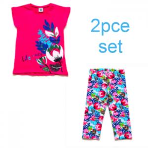 Tuc Tuc older girl Pink legging and tshirt set