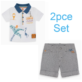 Tuc tuc 2pce wild side polo shirt and fantasy shorts