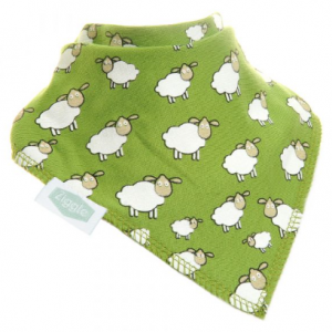 Ziggle cotton front absorbent fleese green sheep