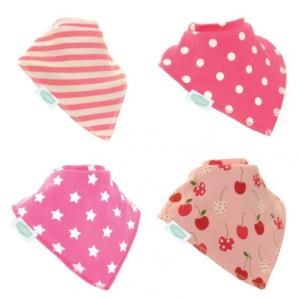 Ziggle pretty pink bandana bibs