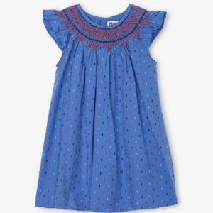 hatley blue smock dress front