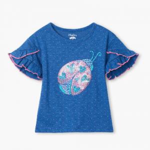 hatley glitter bug tshirt with dropped sleeve