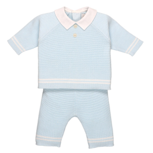 Emile et Rose Peter knitted trouser and jumper and matching hat