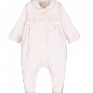 Emile et rose elephant baby pink babygrow