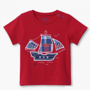Hatley nautical ship baby graphic t-shirt
