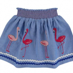 Lilly & Sid woven flamingo skirt