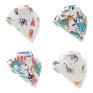 Ziggle 4pk bandana wild at heart bib set
