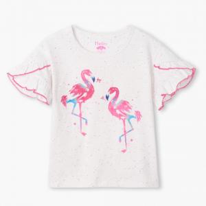 hatley flamingo tshirt front