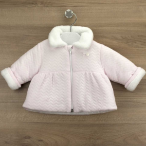 Babidu pale pink cosy soft zip up jacket for girl
