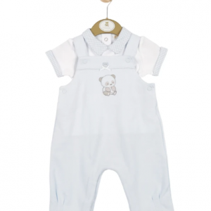 Baby Boy Top & Dungaree Set With Bear Theme