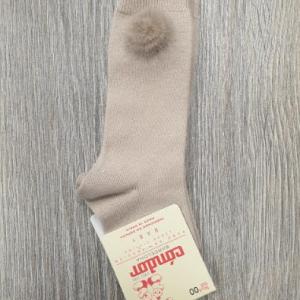 Condor Camel Knee High Pom Pom Socks