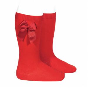Condor knee high socks with side bow