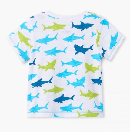 Great white sharks baby graphic tshirt