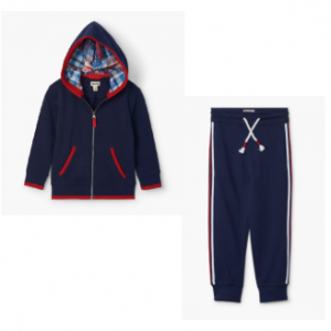 Hatley 2pce navy tracksuit with red trimmimg
