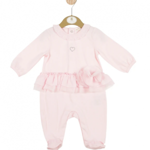Mintini Baby Girl All in One With Heart And Rose Theme