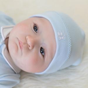 Emile et rose baby blue pull on hat model