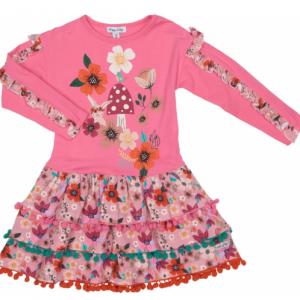 Happy calegi pink floral mix lily dress