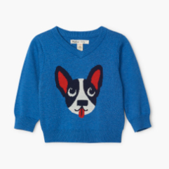 Hatley Playful Puppy V-Neck Sweater