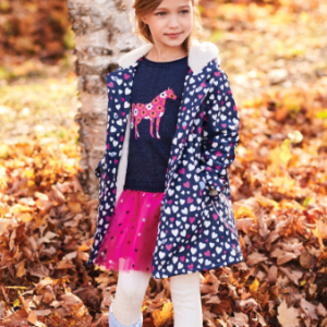 Hatley confetti hearts sherpa lined colour hanging splash jacket