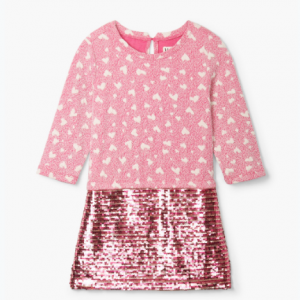 Hatley quilted hearts sequins shift dress