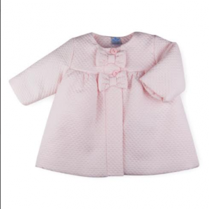 Sardon quilted double bow pink coat