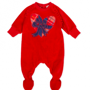 Agatha Ruiz de la prada baby red velour all in one