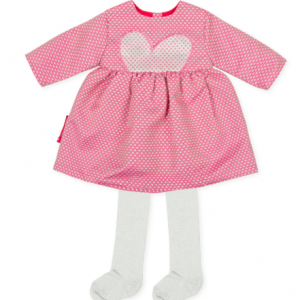 Agatha ruiz de la prada baby pink and silver dress for girl with tights