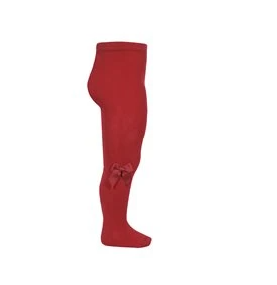 Condor red tights with bow