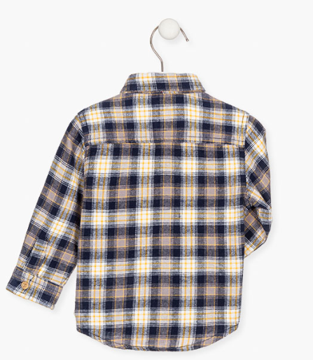 Losan check shirt for baby boy back detail