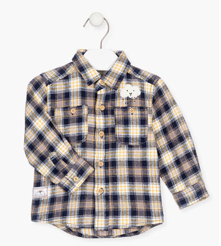 Losan check shirt for baby boy